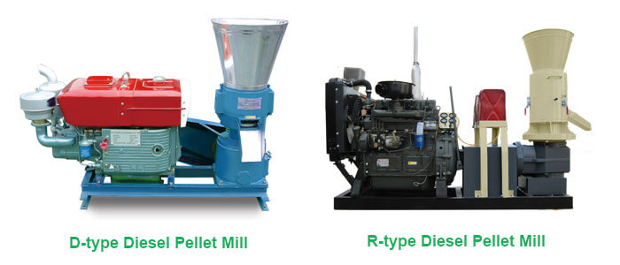 D-type and R-type diesel pellet mill