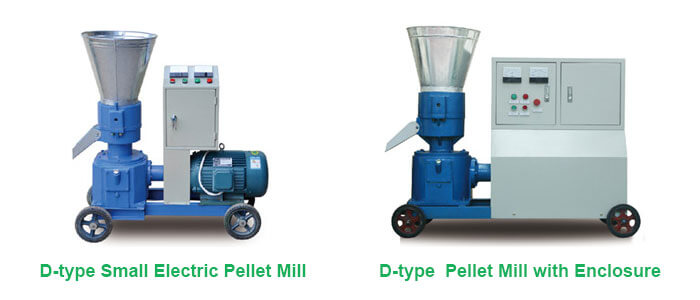 D-type electric pellet mill with enclosure