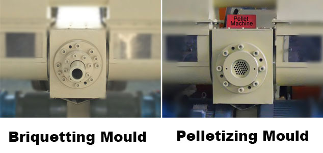 Pelletizing Mould together with briquetting mould