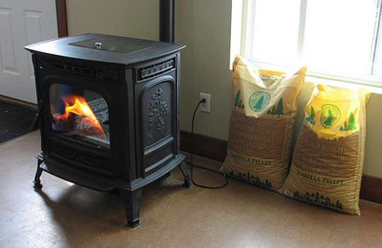 pellet stove and biomass wood pellets